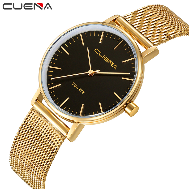 цена на CUENA Simple Fashion Women Watch Ladies Watches Top Brand Luxury Quartz Wristwatches Stainless Steel Relogio Feminino Relojes