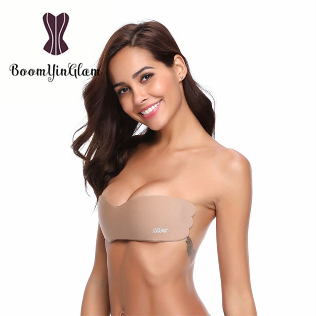 26b837d08cb3a Strapless Silicone Push-Up Backless Self-Adhesive Gel Magic Stick One-Piece Invisible  Bra For Grown Dreess 9005