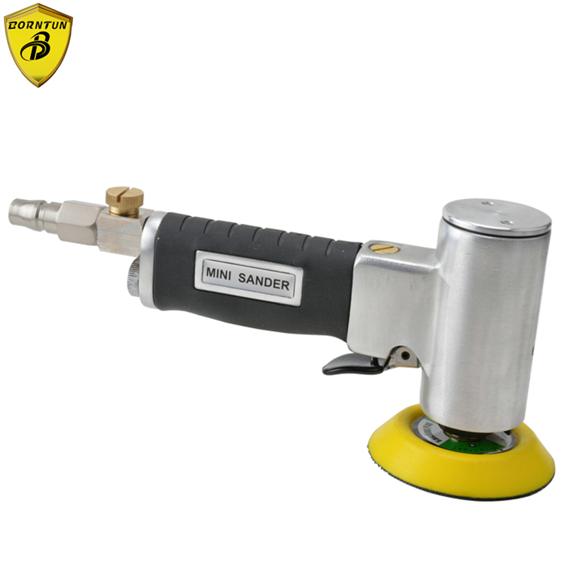Borntun 3 Concentric Straight Core Pneumatic Air Sander 75mm Power Air Polisher Tools for Polishing Buffing Car Furniture Metal