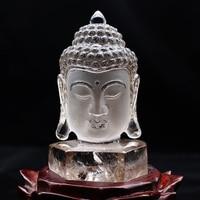 Wholesale 1PC Top Natural Smoky Quartz Buddha Head Gemstone Statue for Home Decor Quartz Crystals Natural Stones