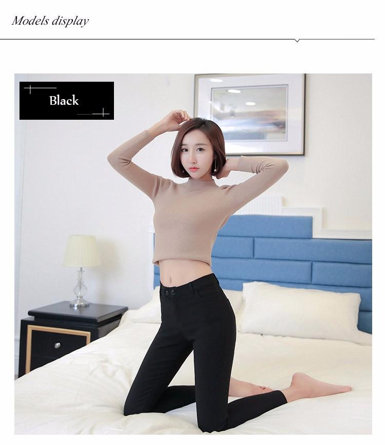 7 Colors Plus Size Pants Full Length Women Spring Autumn Pencil Pants Causal Slim High Waist Legging Stretch Trousers 2016 A663  i