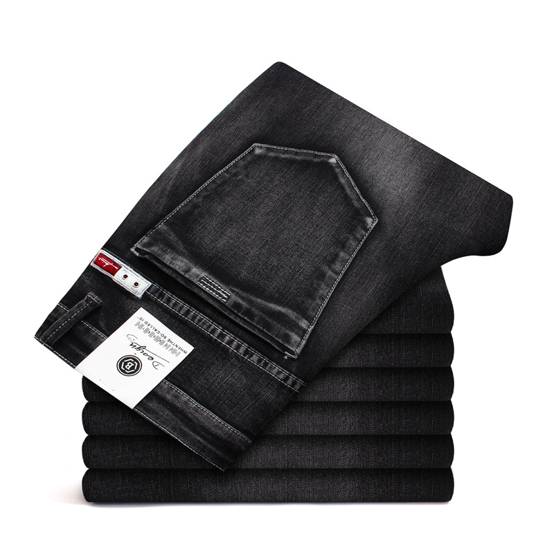 2019  New Jeans Men Skinny Classic Casual High Quality Men's Jeans Straight Trousers Male Pants Big Size 42 44 46 Mens Jeans