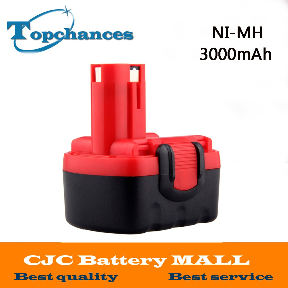 Newest BAT038 14.4V 3000mAh NI-MH Rechargeable Battery Pack Power Tools Battery Cordless Drill Replacement for Bosch 3660CK