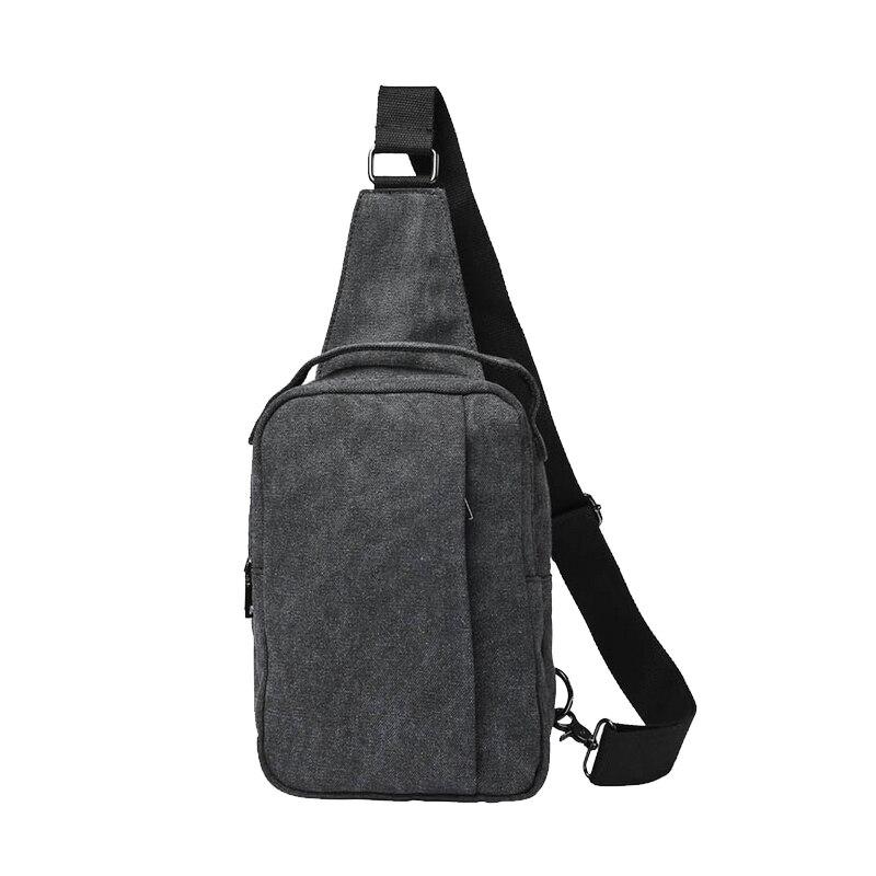 Casual Canvas Messenger Bag Fashion Men Chest Bags Small Size Men s . 4bebb02232