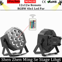 Fast Shipping 12x12w Remote Flat Par Led Flat White Led Par Light 12 12W Smooth RGBW
