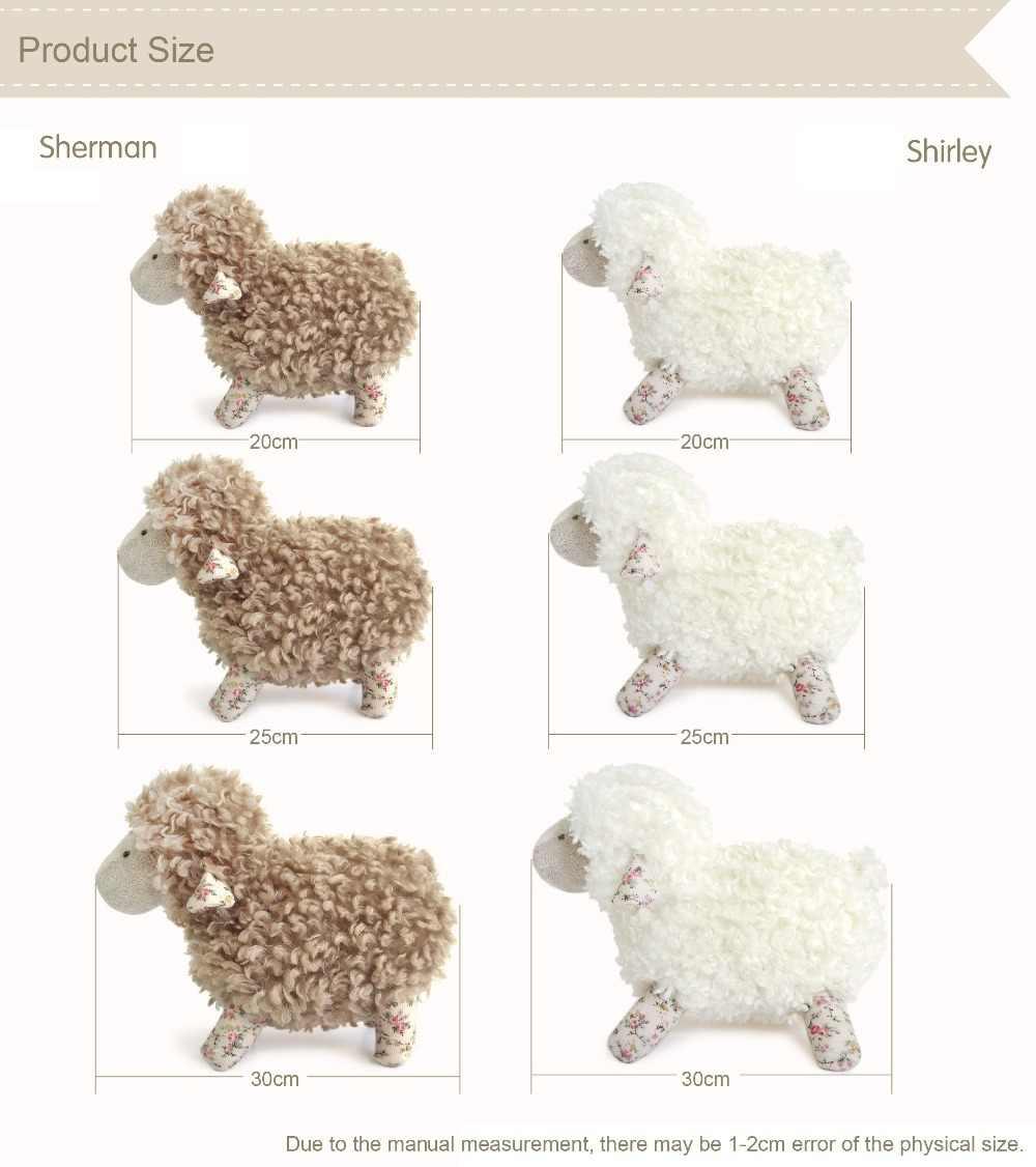Luksusowe Junior Baby Lamb wypchane zwierzę zabawki piękne ozdoby do domu lalki dla dzieci prezent urodzinowy Floppy ear białe pluszowe owieczki