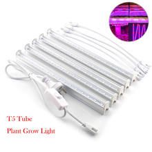 6W-30W Plant Grow Light T5 Tube LED For Indoor Greenhouse Hydroponic System Lamp Tent Flower Plants Seedling Growth With Switch