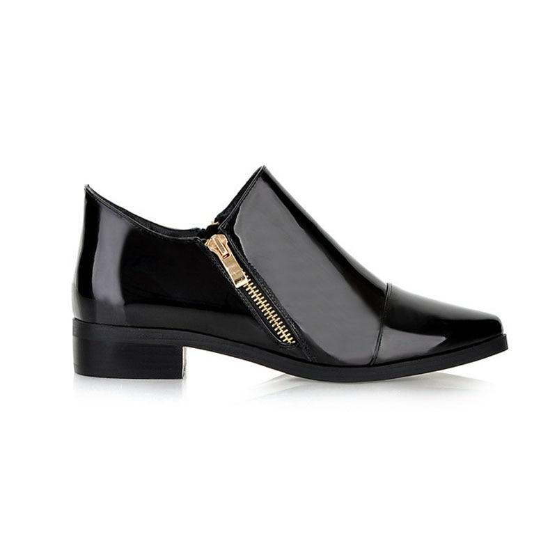 Moda de charol en punta del dedo del pie puntiagudo de las mujeres de - Zapatos de mujer - foto 2