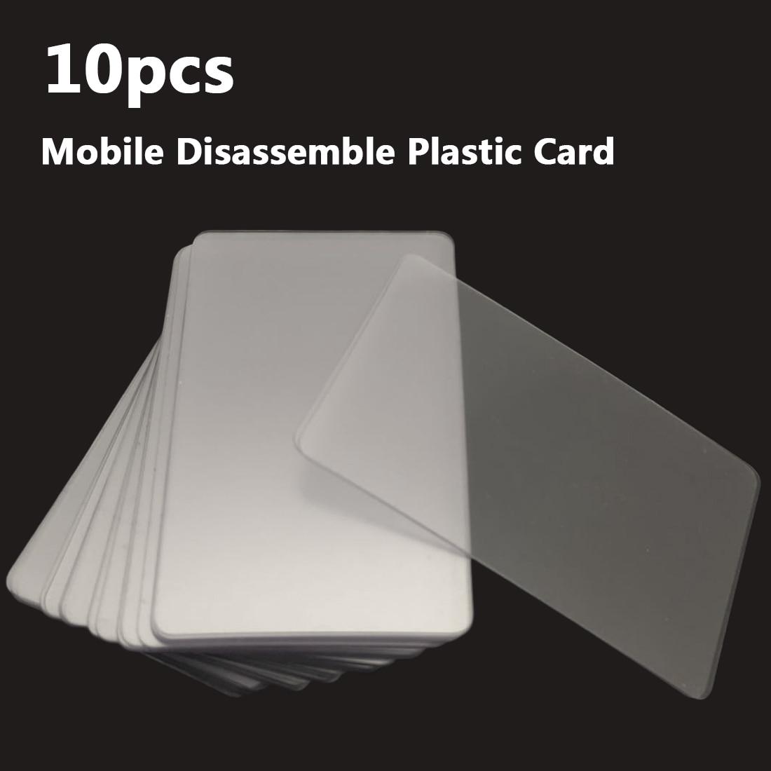 Купить с кэшбэком Hand Tool 10pcs Handy Plastic Card Pry Opening Scraper for iPad Tablet for Samsung Mobile Phone Glued Screen Repair Tool