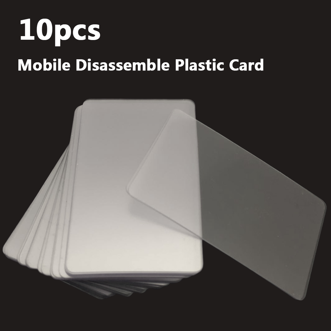 10pcs Handy Plastic Card Pry Opening Scraper for iPad Tablet Cell Phone Glued Screen / Back Housing Repair Tool image