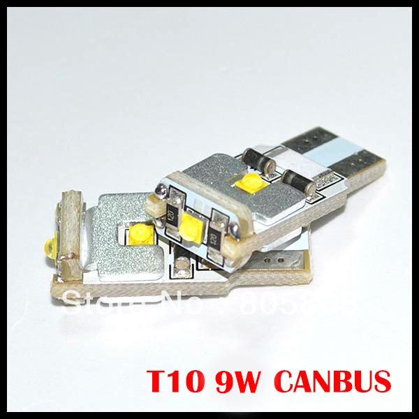 Free shipping  Auto LED Canbus T10 W5W 9w cree chips Signal Light Reading light NO OBC ERROR Canbus T10 W5W 194 9W 2pcs canbus t10 48smd 3014 led auto car light canbus w5w t10 led 194 error free warm white light bulbs 12v