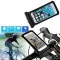 Прочный Универсальный IPX8 Водонепроницаемый Велосипед Держатель Сумка для iPhone 6/6 s 6/6 s Плюс велосипед Водонепроницаемый Мешок + штекер наушников