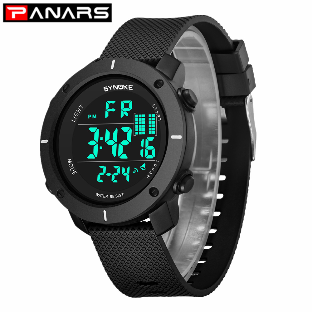 PANARS New Arrival Luxury Sports Watches Men Waterproof LED Digital Watch Fashion Casual Men's Wristwatches Clock for Womens