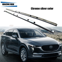 Plating Chrome Color Screw Aluminium Alloy Roof Rack Roof Luggage Carrier Rail Side Bar For MAZDA CX 5 CX5 2017 2018 17 18