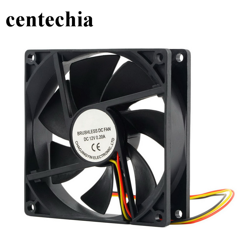 Centechia 12 V 3 Pin 90*90*25mm Cooling Fan for Computer Case CPU Cooler Radiator High Quality