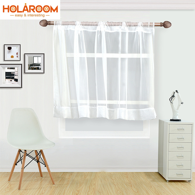 Latest Morden Fashion Simple White Coffee Curtain For Kitchen Half Window  Tulle Curtains Rustic Kitchen Living