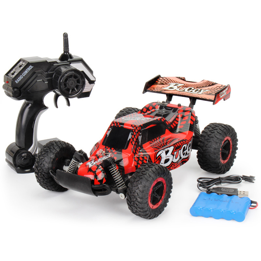 1:16 RC Car Toys for Children 2.4G 4WD Big Foot Cross Country Climbing Vehicle Modified Charging Remote Control Car Toy Model