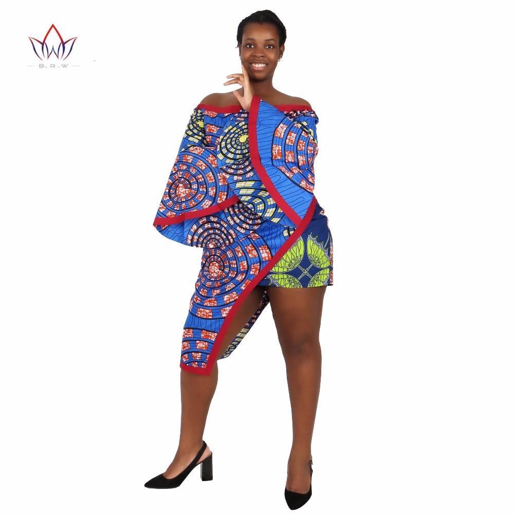 BRW Vêtements africains 2 Pièce Ensemble Femmes Robe Costume Crop - Vêtements nationaux - Photo 3