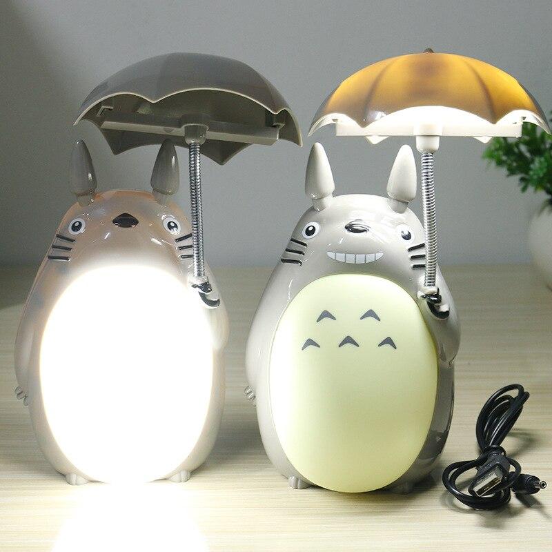 Kawaii de Bande Dessinée Mon Voisin Totoro Lampe Led Night Light USB Table de lecture Lampes de Bureau pour Enfants Cadeau Home Decor Nouveauté éclairages
