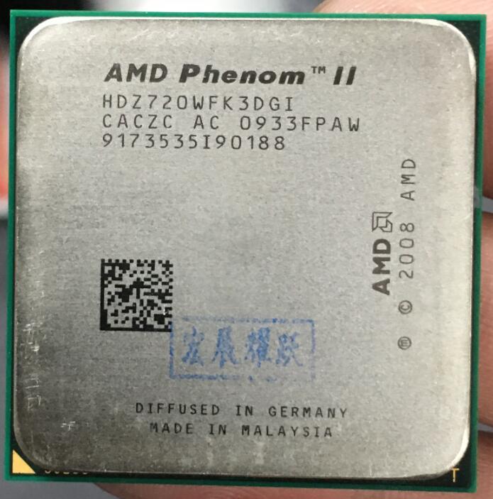 AMD Phenom Ii X3 720 X3-720 2.8G Three Core AM3 938 CPU 100% Working Properly Desktop Processor