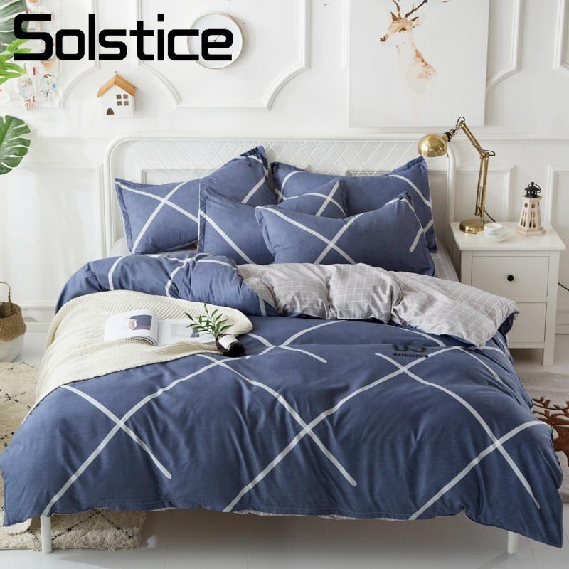 Solstice Home Textile Bedding Set King Queen Twin Sport Brief Linen For Girl Boy Kid Teen Duvet Cover Pillowcase Flat Bed Sheets