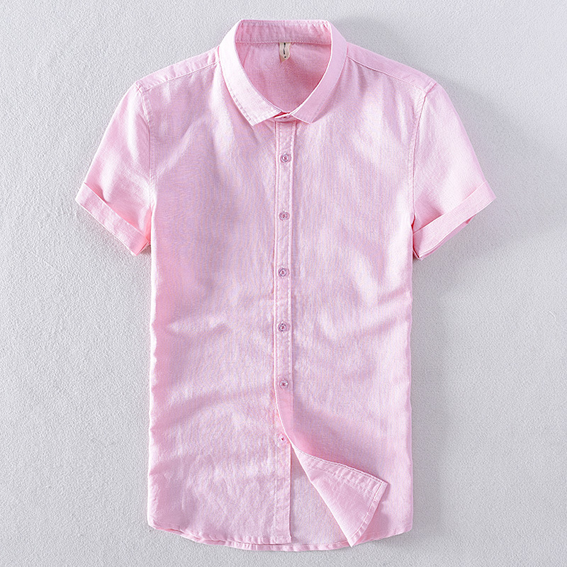 2020 Men's New Summer Short-sleeved Shirt Classic Casual Cotton Shirt