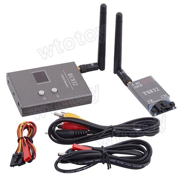 FPV 5.8G 600mW A/V 32CH Transmitting/Receiving System TS832 + RC832 RP-SMA 16643 skyzone fpv 5 8ghz 1500mw 32ch a v transmitting tx module ts800 rp sma