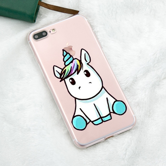 belle licorne pour iphone x soft case coque en silicone t l phone cas pour iphone 5 5s se 6 s 7. Black Bedroom Furniture Sets. Home Design Ideas