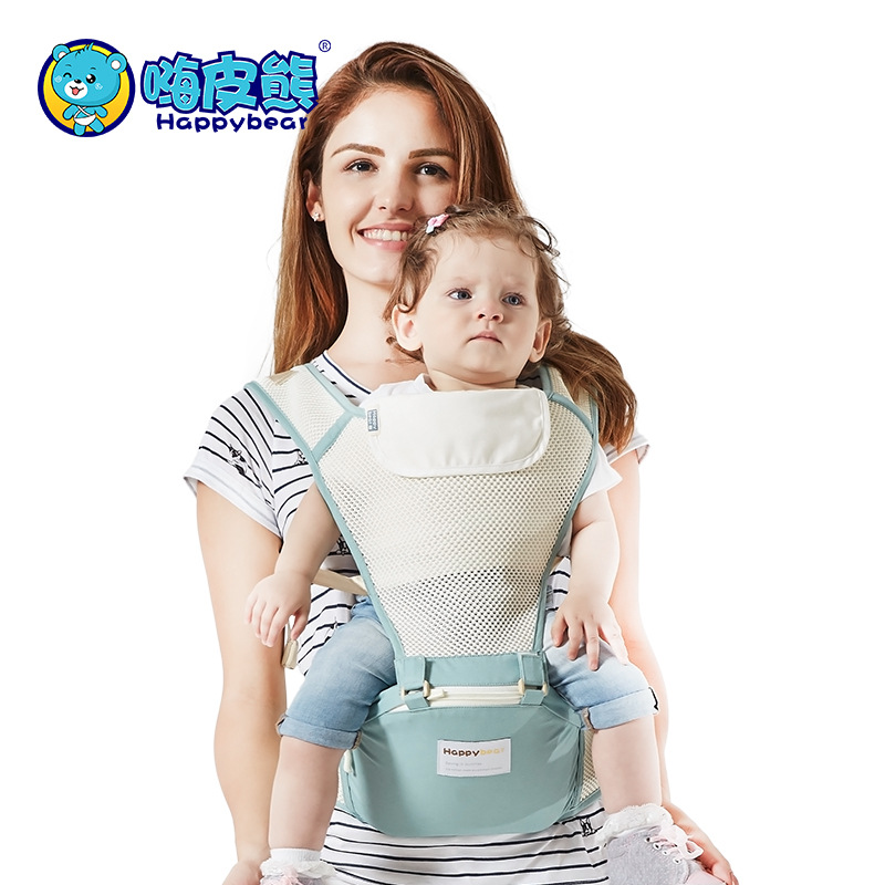 Happybear luxury 3 in 1 hipseat ergonomic front facing baby carrier 0-36 months multifunctional breathable baby wrap sling brand ergonomic baby carrier breathable front facing infant baby sling backpack pouch wrap baby kangaroo for baby newborn sling