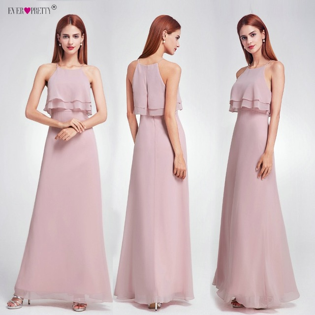 Ever Pretty 2018 Cheap Bridesmaid Dresses Ep07137 Long Ruffles
