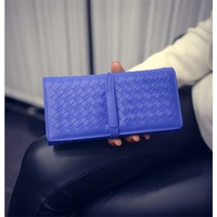 Hot Sale Pretty Style Knitting Long Desighn Weaving Women Purse Day Clutches Big Capacity Lady Wallets