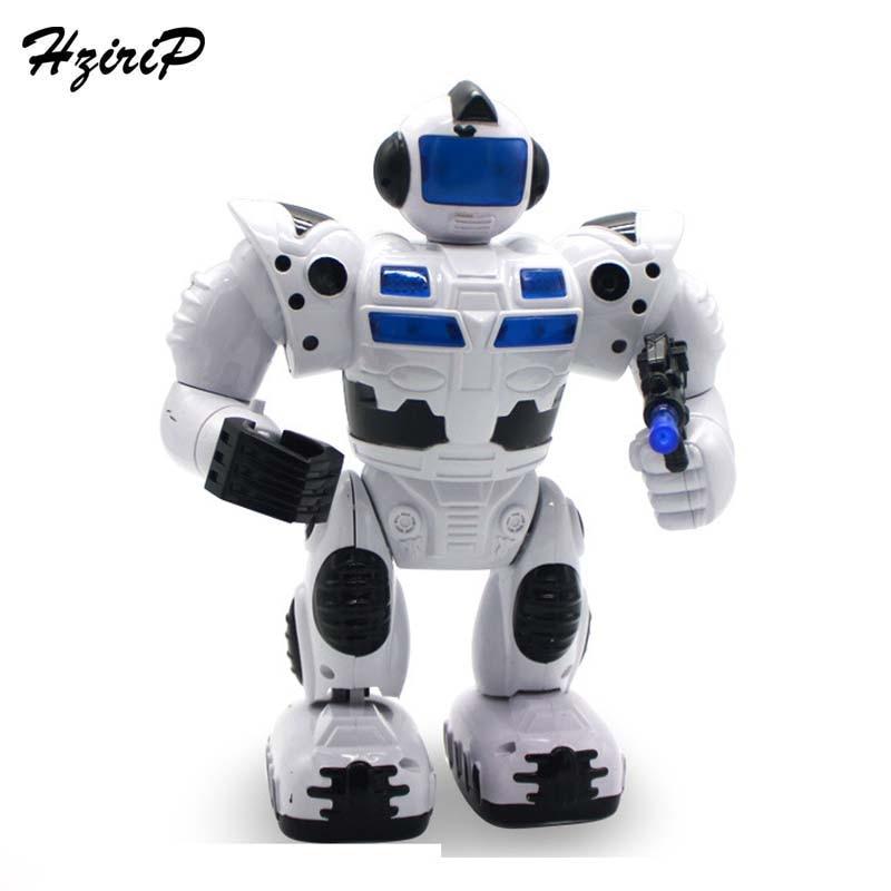 HziriP New Musical Walk Lighten Electronic Toy Robot Classic Intelligent Robot Model Educational Toys Children Toy Birthday Gift