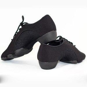 Image 4 - BD танцевальная обувь для мужчин и женщин, современные туфли для латиноамериканских танцев, с трехсекционной подошвой
