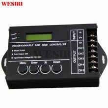 WESIRI TC420 temps programmable RGB LED de contrôle gradateur DC12V/24 V 5 canaux sortie totale 20A Anode commune pour les lumières rvb LED