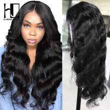 13x6 Lace Front Human Hair Wigs 300% Density Peruvian Body Wave 13X4 Lace Front Wig For Black Women Undetectable Lace Wig(China)