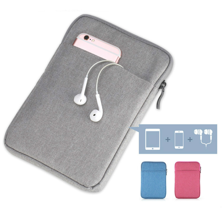 Zippered Sleeve Bag Case For Huawei Mediapad T3 10.0 AGS-W09 AGS-L09 9.6 Inch Tablet Pouch Cover With Mobile/Earphone Slot
