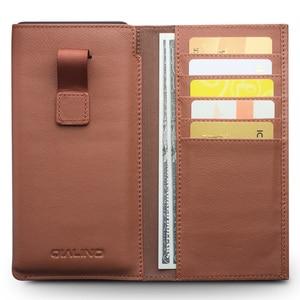 Image 3 - QIALINO עסקי סגנון מקרה עבור סמסונג גלקסי הערה 9 בעבודת יד אמיתי עור ארנק פאוץ כרטיס חריץ כיסוי לסמסונג הערה 8