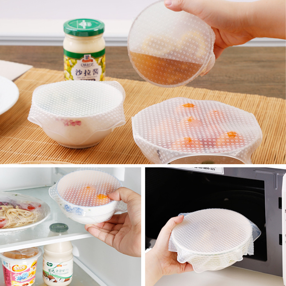 Silicone Stretch Lids Reusable Food Wrap Lid Dish Container Cover Universal Lid Fresh Keeping Kitchen Accessories (3)