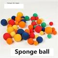 5pcs/set 5 color Close Up Magic Street Classical Comedy Trick Soft Sponge Balls 3.5cm Medium size