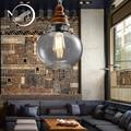 Moderne minimalistischen persönlichkeit E27 led glas anhänger leuchtet einzigen kopf lampe für esszimmer küche wohnzimmer restaurant hotel
