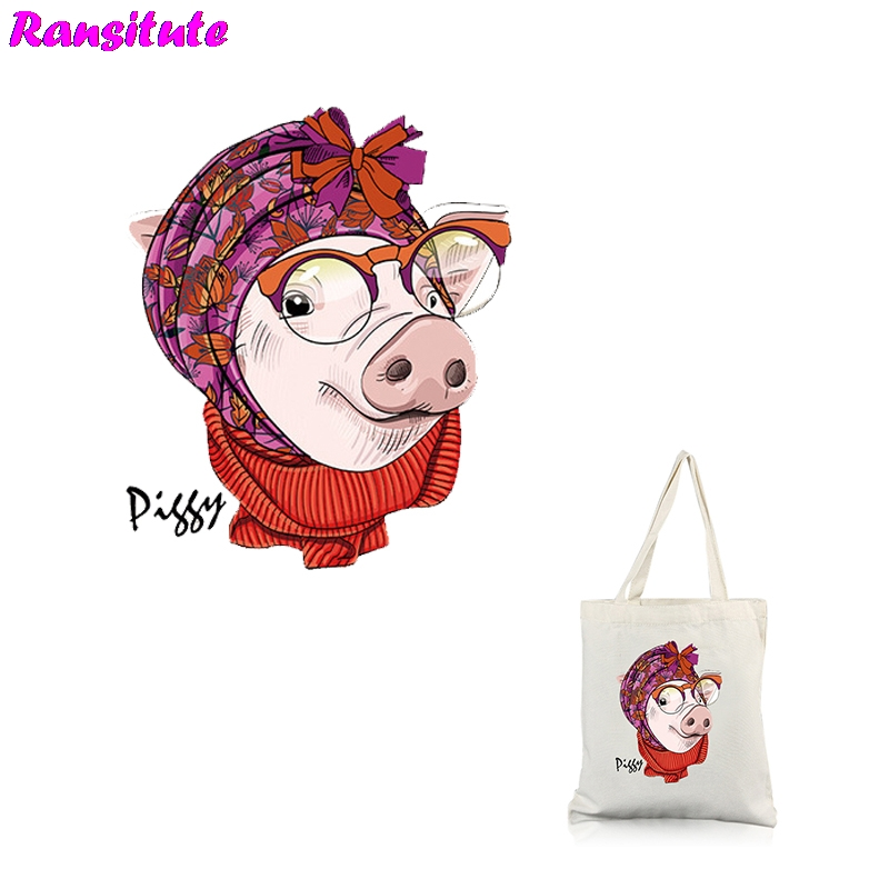 Ransitute R312 Pig Series 3 Patch DIY Clothing Printing T-shirt Thermal Transfer Washable Heat Transfer