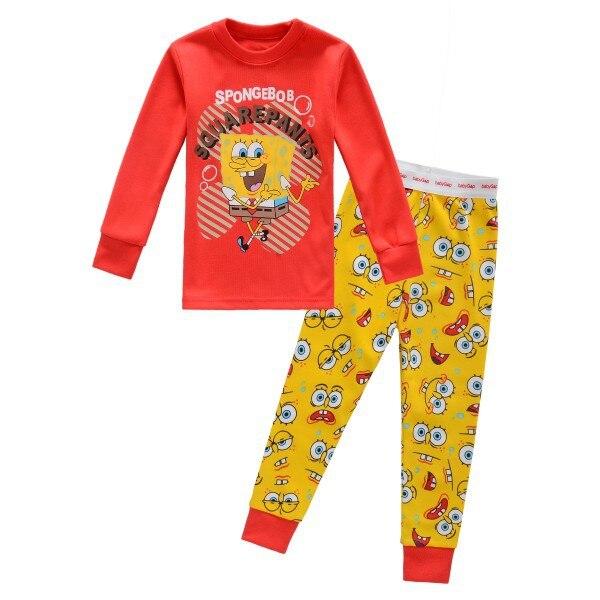 new arrival spongebob kid pajamas set fashion winter girl pajamas