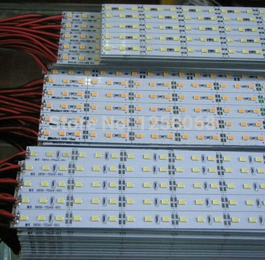 Fanlive DC 24v 12v 5630 SMD 72 1 Meter LED Bar Hard Pixels Strip Light Neutral 4500k 20pcs/lot Hot Sale  Warm White