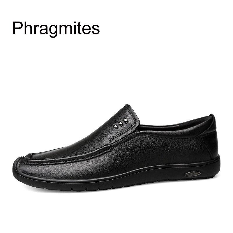 D'affaires Pour Sur Papa Métal Automne Noir Chaussures De Zapatos Hommes Nouveau Décontractée Slio Rustless En Phragmites Hombre marron Appartements Cuir Formelle I70qwtt