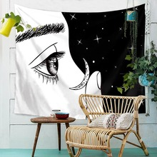 Tapestry Fabric Wall Hanging Staring Character Print Art Decoration Wall Covering Yoga Mat 150x130cm все цены