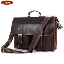 Genuine Cow Leather Men Briefcase Business Handbag Travel Bag Fit 15 inch Laptop With Removable computer Compartment PR007105