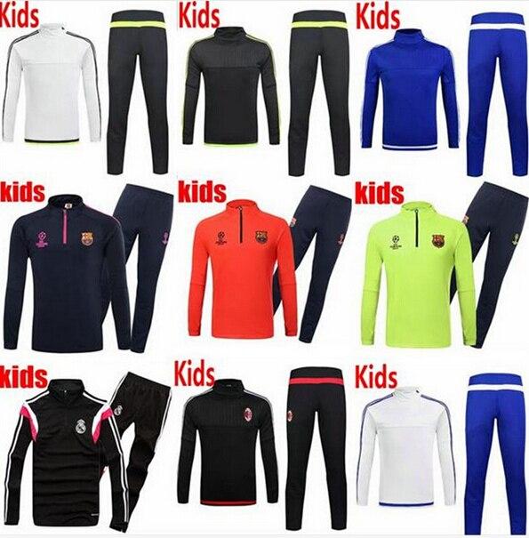 quality design 67112 43065 US $34.89  15/16 Barcelona Soccer Training suit Jacket 2016 Arsenal kids  tracksuit Sweat shirts Sportsswear messi neymar Football kid shirt on ...