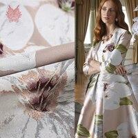 Роскошный большой цветок металлик из жаккардовой парчи для платья пальто жаккардовая ткань tela tecido stofen пряжа SP5698 Бесплатная доставка