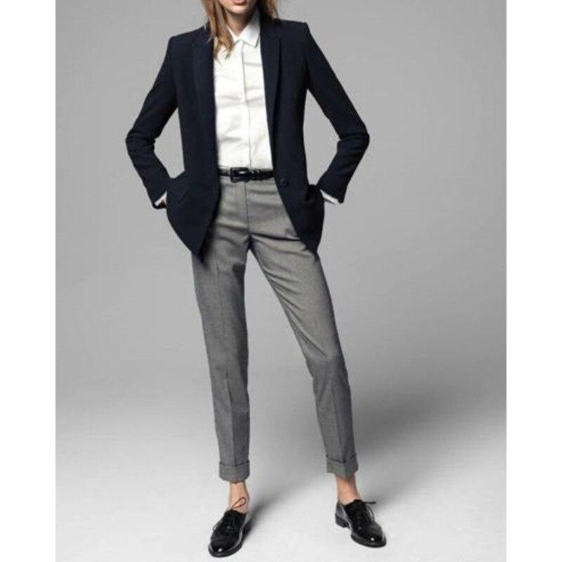 15 2017 Limited Promotion Full Pantalones Mujer 2 Piece Jacket+pants Women Ladies Business Office Tuxedos Work Wear Suit Bespoke