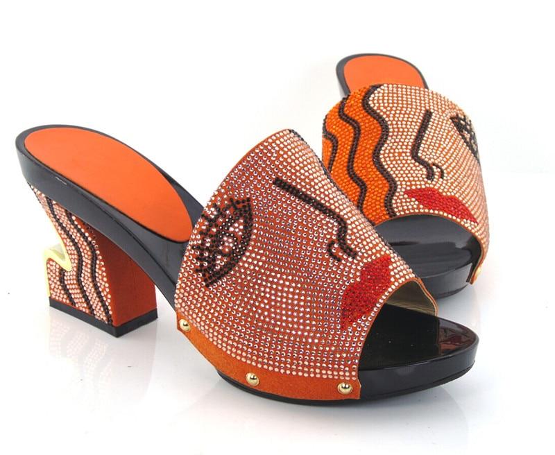 ФОТО Item No.KL1604-ORANGE New arrival fashion nice matching shoe